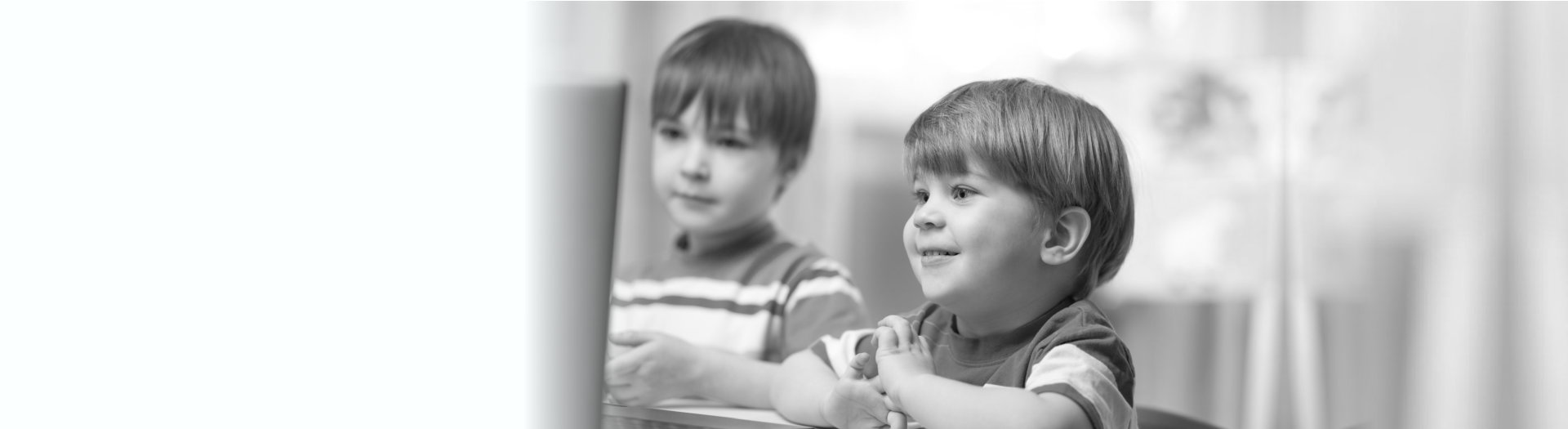 two children watching