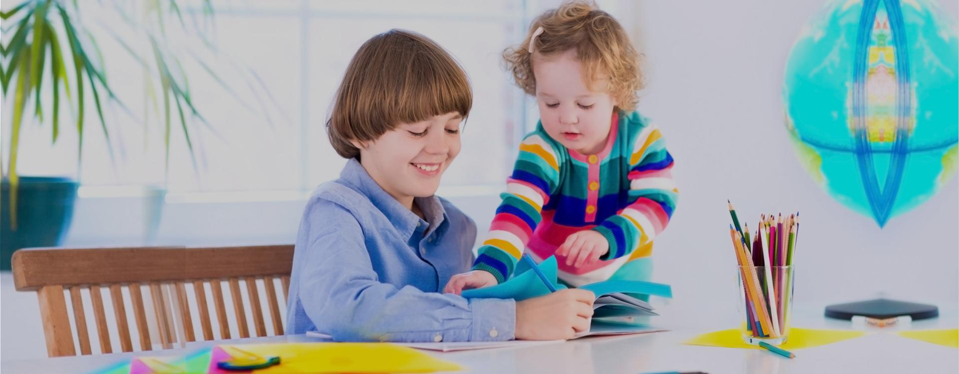 children doing art work